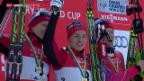 Video «Langlauf: Zusammenfassung Weltcup in Davos» abspielen