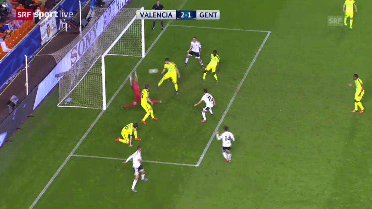 Fussball: Champions League, 3. Runde, Valencia - Gent