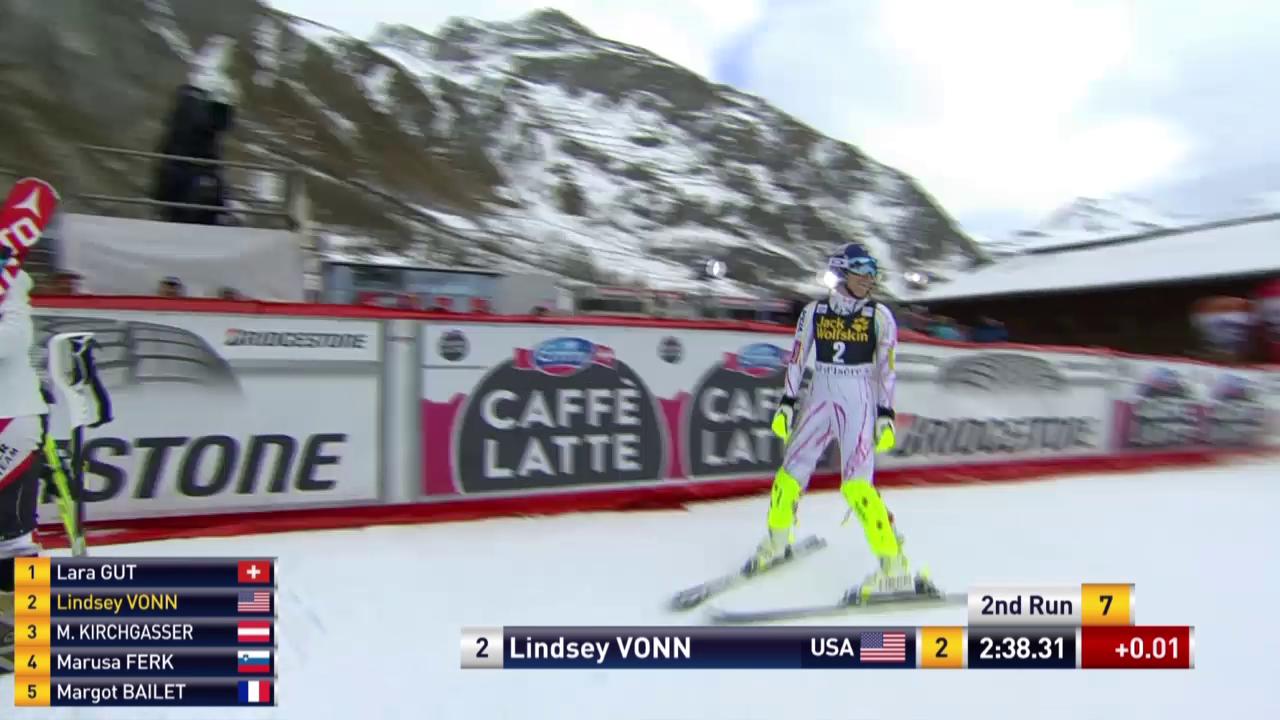 Ski: Die Fahrt von Vonn in Val d'Isere