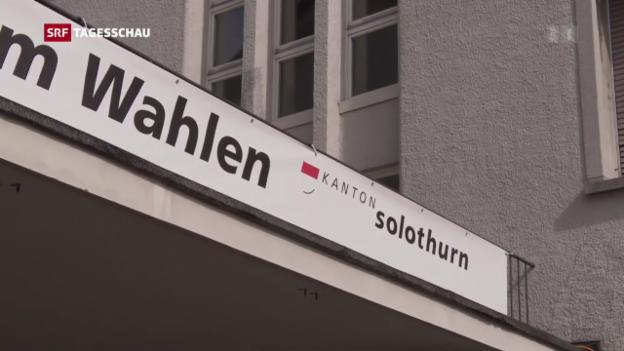 Video «Solothurn wählt neue Regierung und Kantonsrat» abspielen