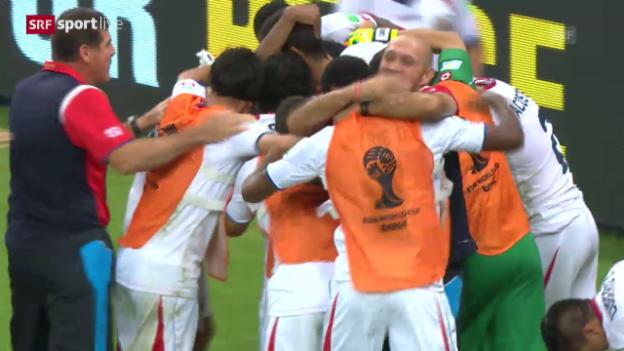 Video «Costa Rica - Griechenland: Die Live-Highlights» abspielen
