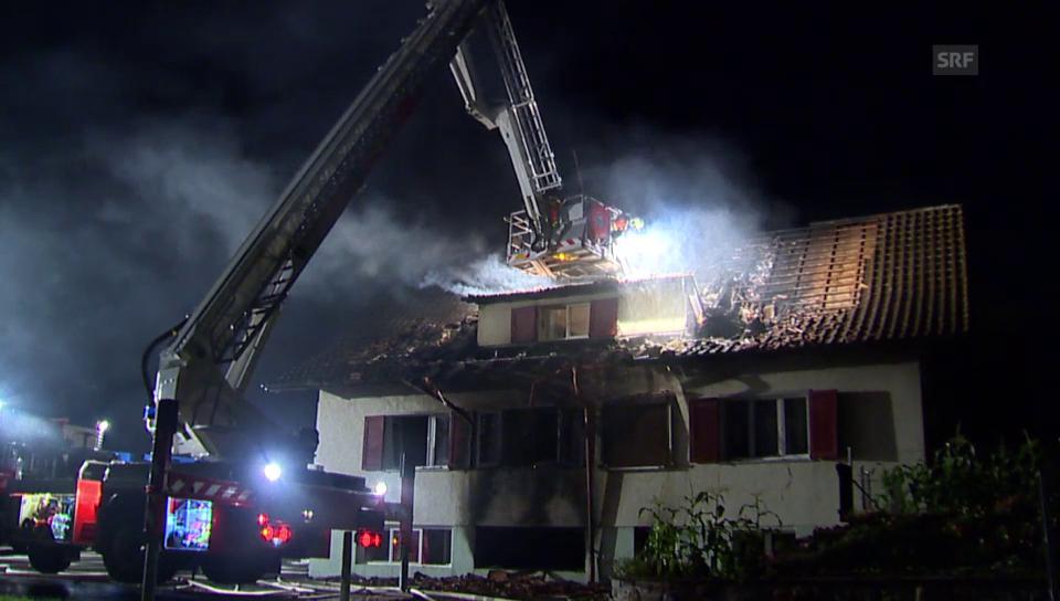 Brand in Asylunterkunft in Kaltbrunn