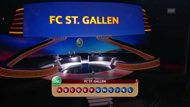 Der FC St. Gallen wird gezogen