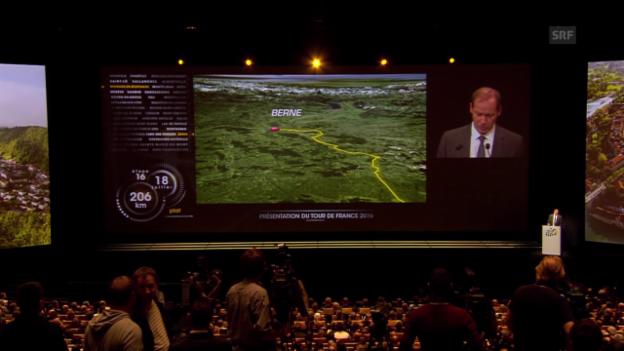 Video «Rad: TdF-Direktor Prudhomme über die Schweizer Etappen» abspielen