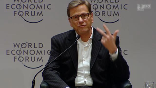Guido Westerwelle über notwendige Säulen gegen die Krise