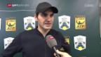 Video «Federer am Tag nach seiner Niederlage in Paris-Bercy» abspielen