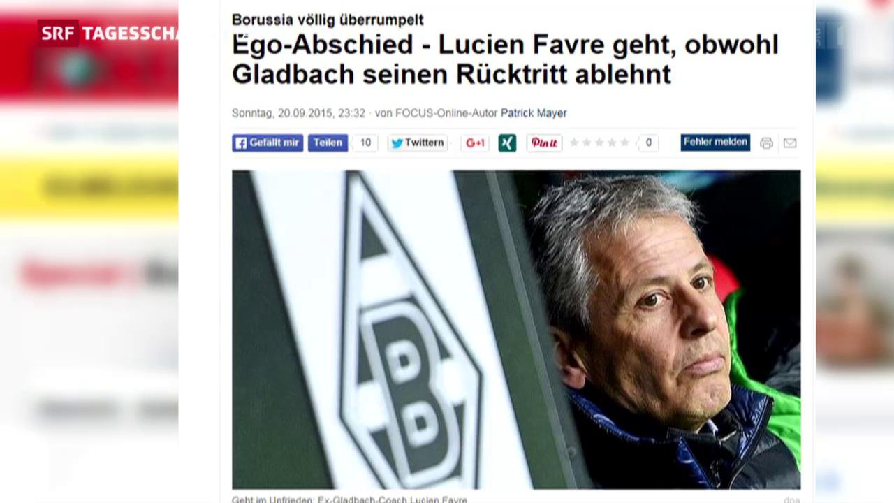 Prügel für Lucien Favre in der deutschen Presse