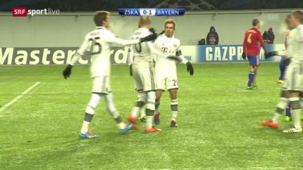 Video «Fussball: CL, ZSKA Moskau - Bayern München» abspielen