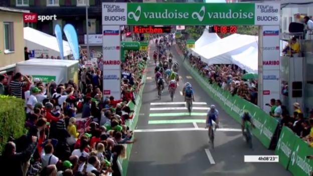 Video «Rad: 4. Etappe der Tour de Suisse («sportaktuell»)» abspielen
