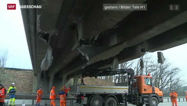 Video «Unfall auf der A1 wird zum Versicherungsfall» abspielen