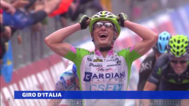 Video «Battaglin gewinnt 4. Etappe («sportaktuell»)» abspielen