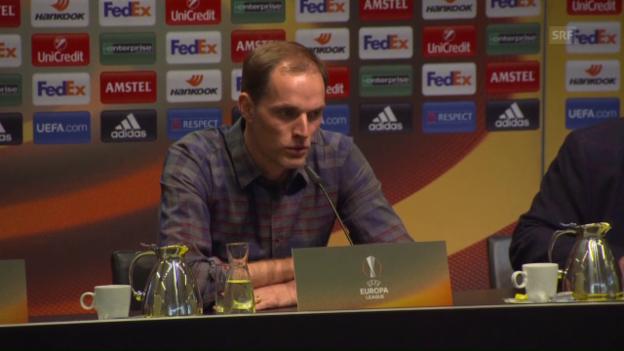 Video «BVB-Coach Thomas Tuchel über die Rückkehr von Jürgen Klopp nach Dortmund (englisch)» abspielen