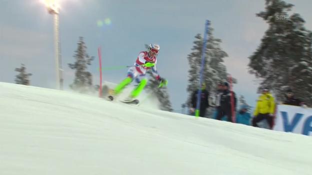 Video «Ski Alpin: Der 2. Lauf von Denise Feierabend» abspielen