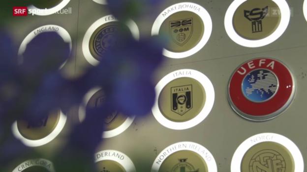 Video «Fussball: Uefa steht hinter Michel Platini» abspielen