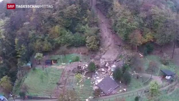 Video «Zwei Tote nach Erdrutsch im Tessin» abspielen