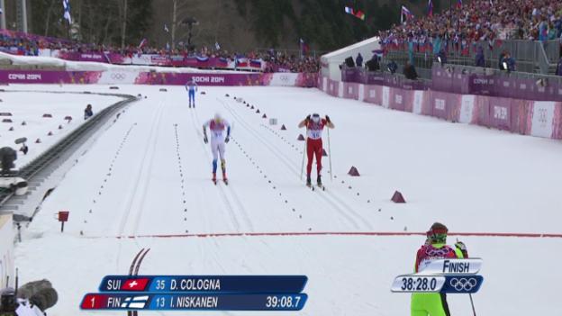 Video «Langlauf: Dario Colognas Gold-Lauf über 15 km klassisch (sotschi direkt, 14.2.2014)» abspielen