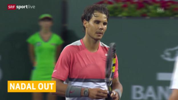 Video «Tennis: Rafael Nadal in Indian Wells ausgeschieden («sportlive», 11.03.2014)» abspielen