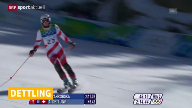 Video «Ski alpin: Andrea Dettling tritt zurück» abspielen