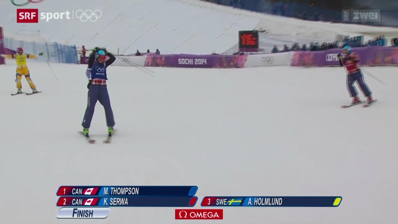 Skicross: Kanadischer Doppelsieg