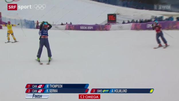 Video «Skicross: Kanadischer Doppelsieg» abspielen