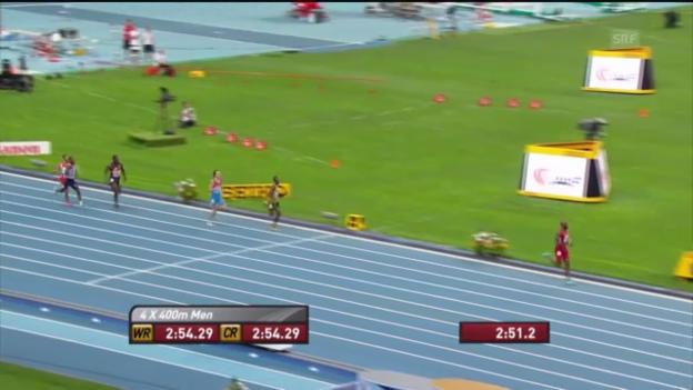 Video «LA-WM: 4x400 m Männer» abspielen