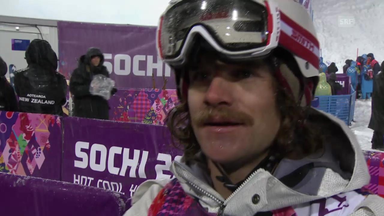 Ski Freestyle: Qualifikation Halfpipe, Interview mit Nils Lauper (sotschi direkt, 18.02.2014)