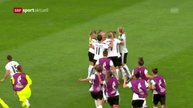 Video «Österreicherinnen auch von Spanien nicht zu stoppen» abspielen