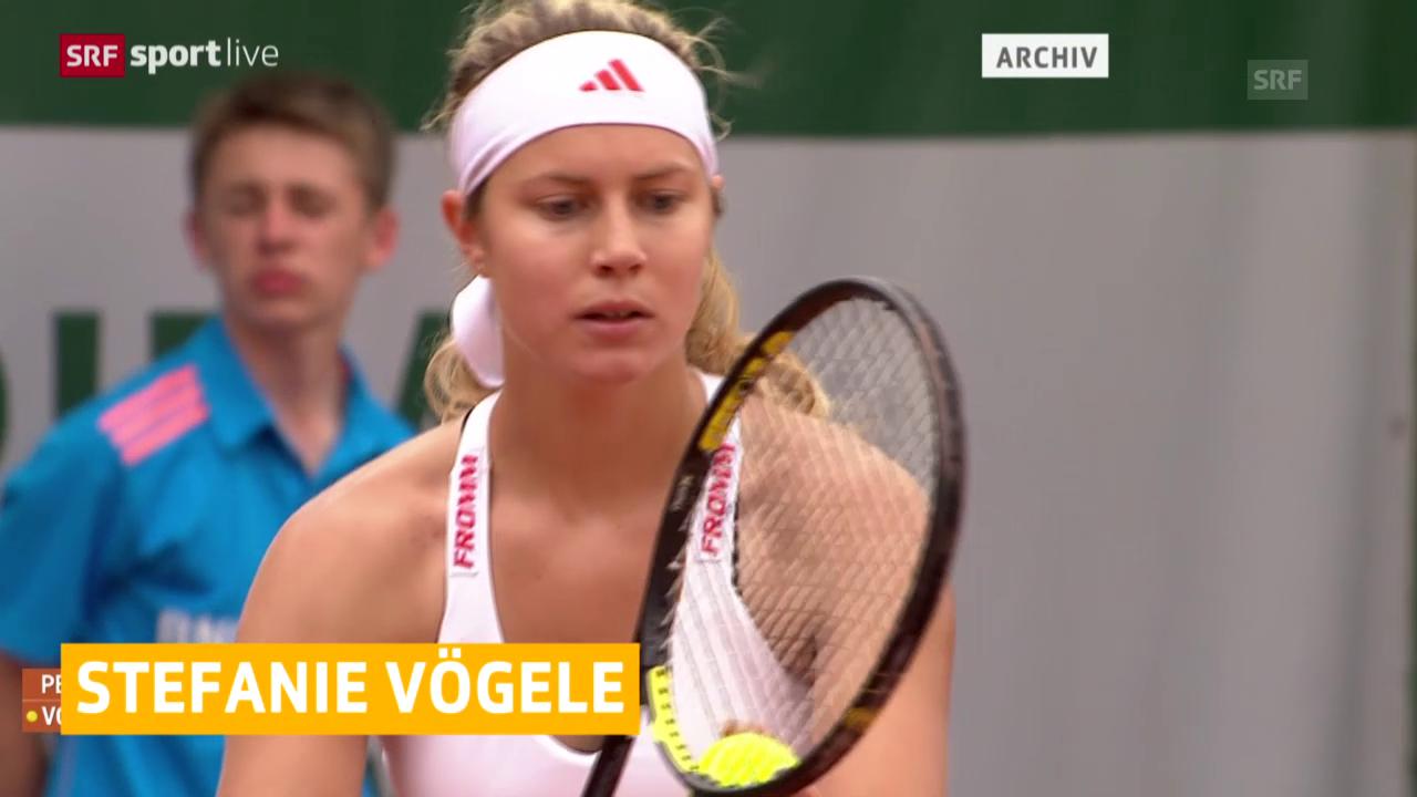 Tennis: Fed-Cup, Stefanie Vögele verletzt