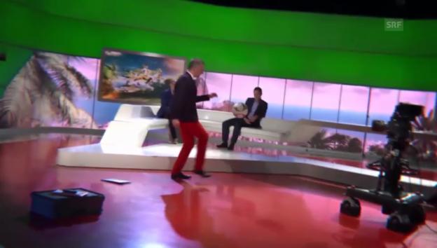Video «Salzgeber in Studio-Action» abspielen