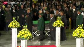 Video « Neslon Mandela tritt seine letzte Reise an» abspielen