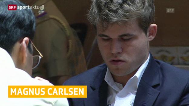 Video «Schach: Carlsen ist Schach-Weltmeister («sportaktuell»)» abspielen