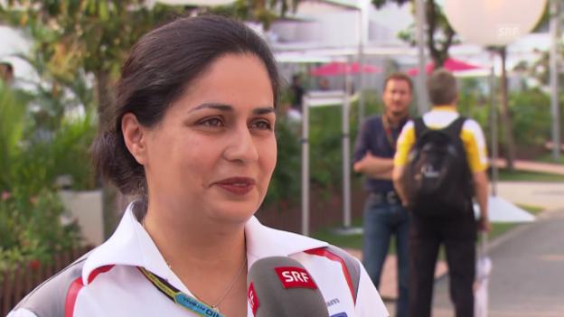 Video «Formel 1: GP Singapur, Interview mit Monisha Kaltenborn» abspielen