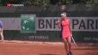 Video «Bacsinzsky gewinnt am Roland Garros» abspielen