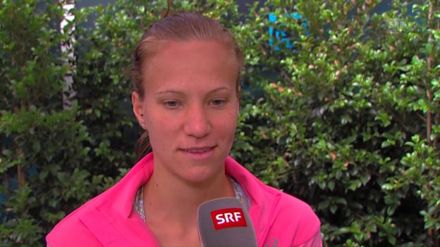 Video «Golubic über ihre Erstrundengegnerin Pliskova» abspielen