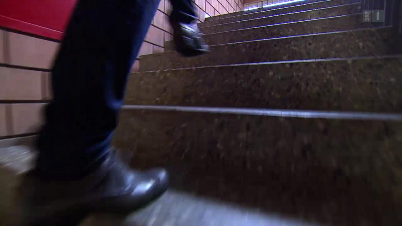 Zwei Stufen auf einmal machen doppelt fit