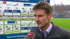 Video «Fussball: Stimmen zur Partie in Aarau» abspielen
