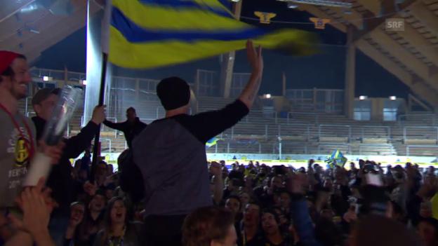 Video «Eishockey: Die Meisterfeier des HC Davos» abspielen
