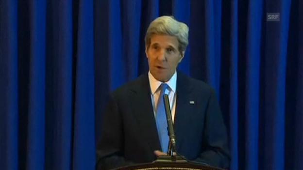 Video «John Kerry spricht in Amman über die Fortschritte (Originalton Englisch)» abspielen