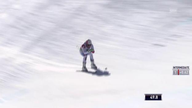 Video «Ski: Abschlusstraining Abfahrt Saalbach, Fahrt Patrick Küng» abspielen