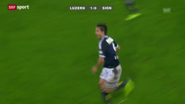 Video «Cup: Luzern-Sion» abspielen