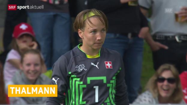 Video «Fussball: Gaëlle Thalmann zum FC Basel» abspielen