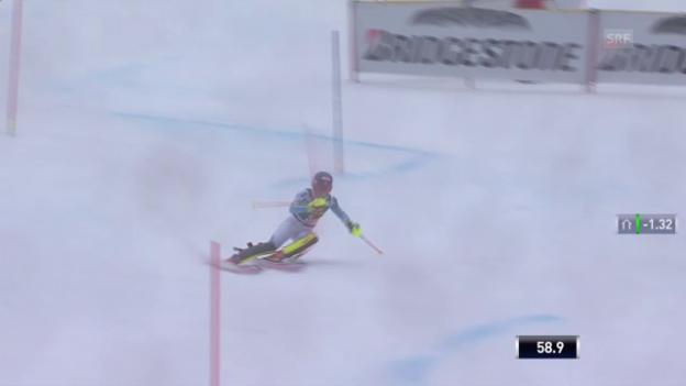 Video «Ski: Slalom Maribor, 2. Lauf Mikaela Shiffrin» abspielen