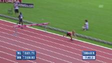 Video «Leichtathletik: Diamond League Paris, Jagers Rekord trotz Sturz» abspielen