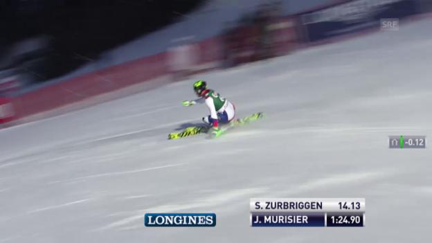 Video «Ski alpin: Super-Kombi in Kitzbühel, Slalom-Lauf von Justin Murisier» abspielen