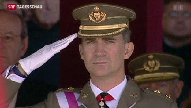 Video «Spanien macht Weg frei für Prinz Felipe» abspielen