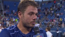 Video «Tennis. US Open, Wawrinka - Ramos-Vinolas, Interview mit Wawrinka» abspielen