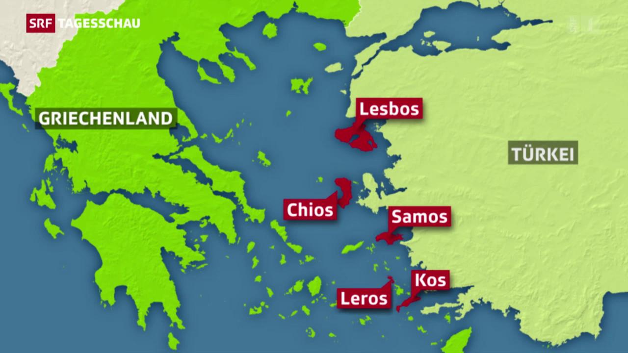 Lesbos: Registrierzentrum für Flüchtlinge