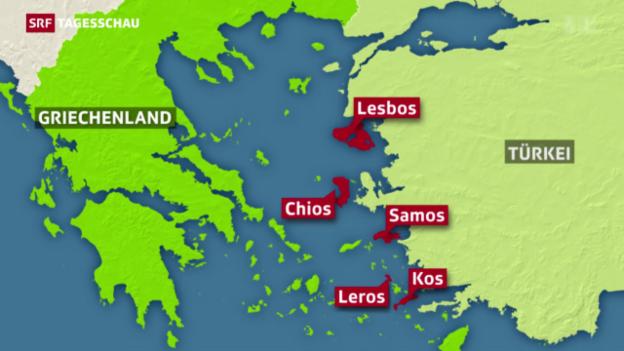 Video «Lesbos: Registrierzentrum für Flüchtlinge» abspielen