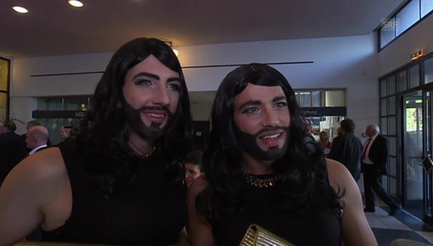Video «Das Duo Divertimento als «Conchita Würste»» abspielen