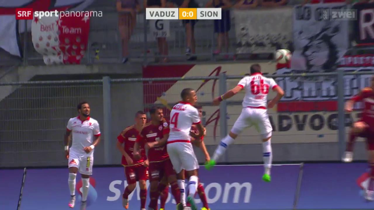 Fussball: Super League, Vaduz - Sion